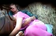 Image Indian newly married wife start blowjob in farm