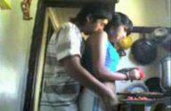 Image Indian Couples Making Love in Kitchen
